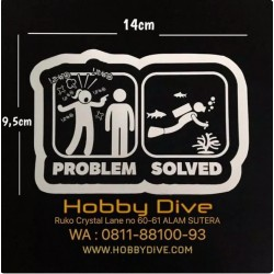 [HD-314] Sticker Scuba Diving Problem Solved